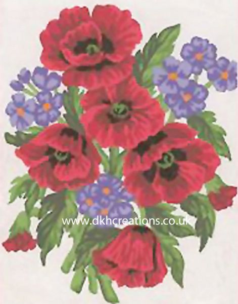 Poppies And Cornflowers Tapestry Kit